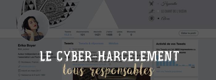 Le cyber-harcèlement : tous responsables