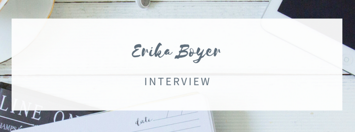 Discussion avec Erika Boyer